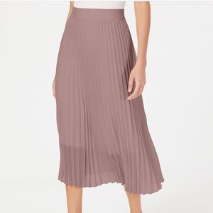 Petite Alfani Knife Pleated Midi Skirt
